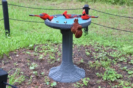 Cardinals and Squirrel - 14,802 Legos