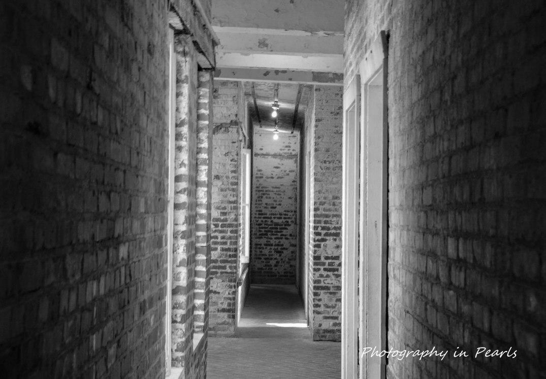 Hallway at Atalaya B&W