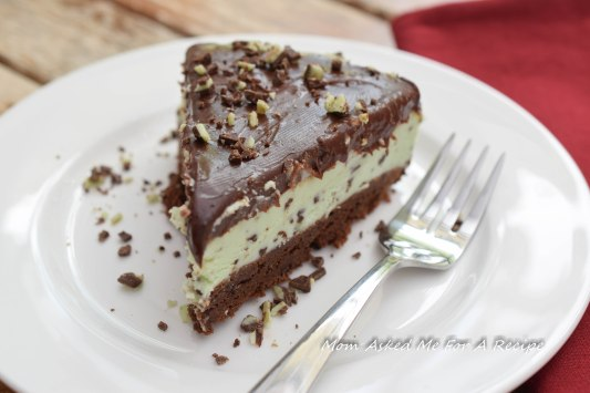 Mint Brownie Cheesecake 2
