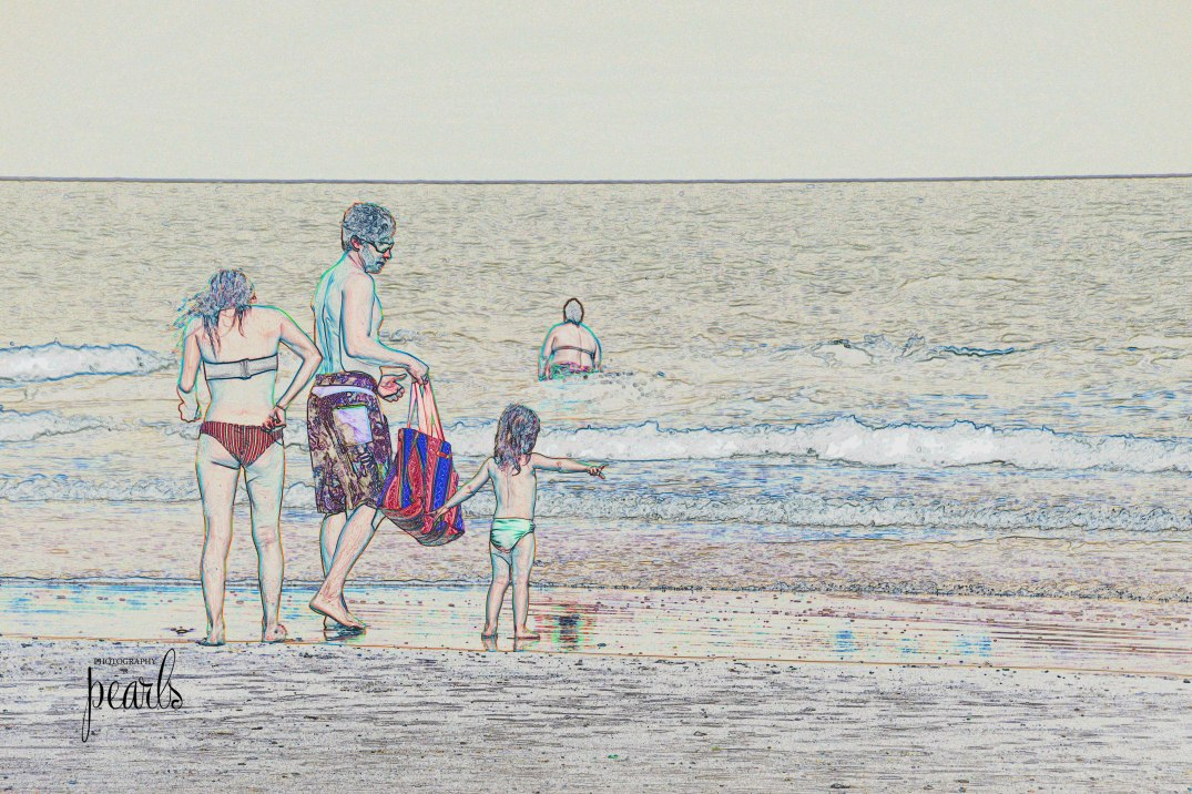 Family in the Surf